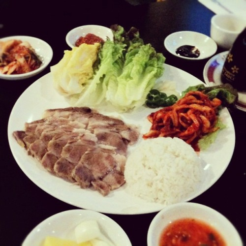 $10 보쌈 정식 #koreanfood #Snapseed #food #iphone3gs