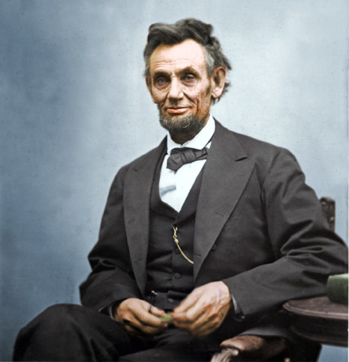style-division:  Abraham Lincoln in colour