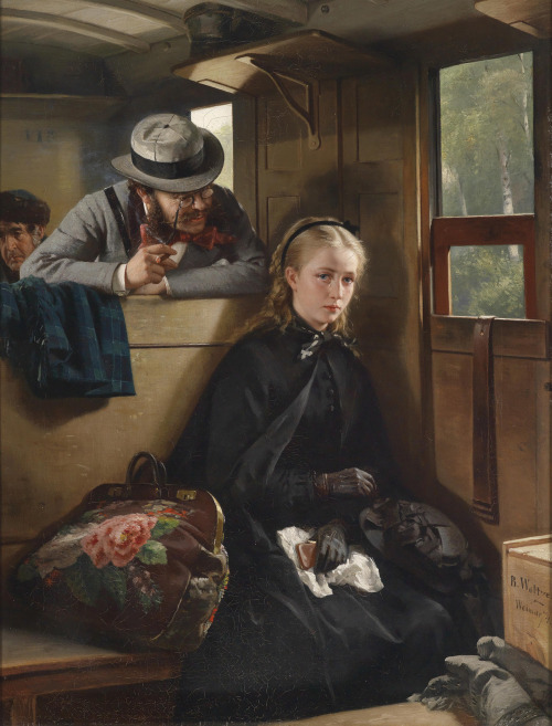 fleurdulys:  The Irritating Gentleman - Berthold Woltze 1874  I know that feel, Painting Lady.