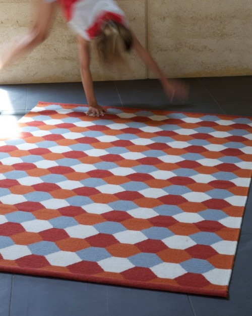 hexagons make me happy. rug by armadillo & co tx sharedesign