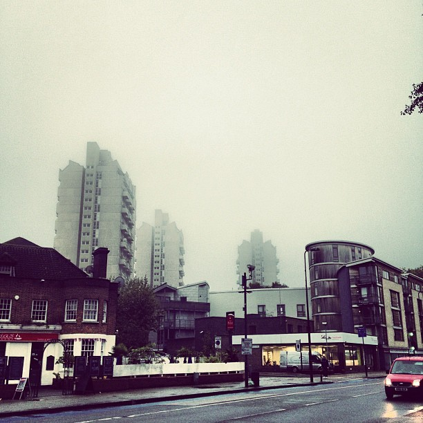Quite foggy today #fog #london