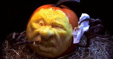 Some wicked pumpkin art.