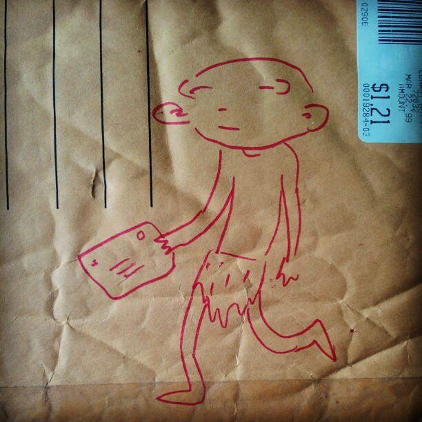 clever brian ralph envelope sketch. photo by chris anthony diaz