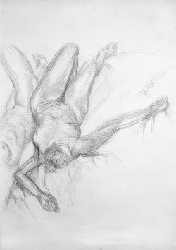 One of my better drawings from Life Drawing classes. Pencil on A1 cartridge paper.