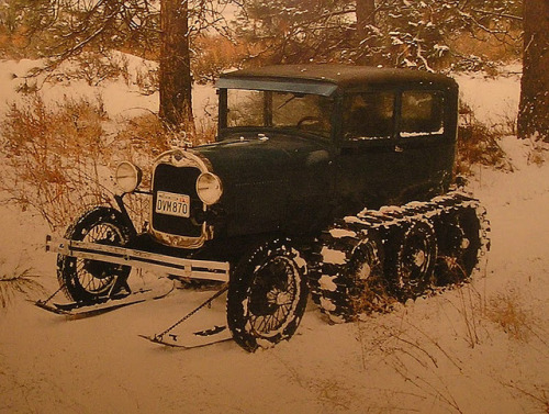 distinguishedcompany:  americabymotorcycle: Ford model A snow car by Austin7nut on Flickr.