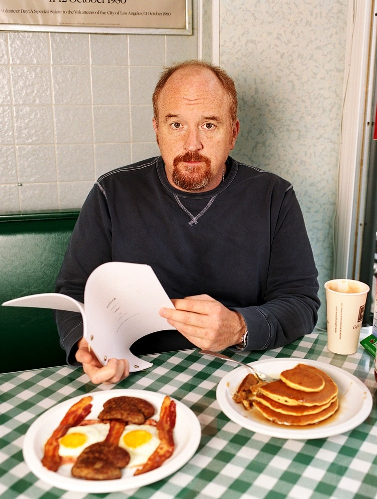 thevuas:  Comedian Louis CK, photographed at the Hudson Diner in New York City for this year's TIME 100 issue  my love.