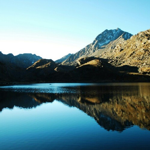 Gosaikunda,  Nepal.  #lake #nature #instalove #mountain #heaven #peace #sky #beautiful #webstagram #nepal