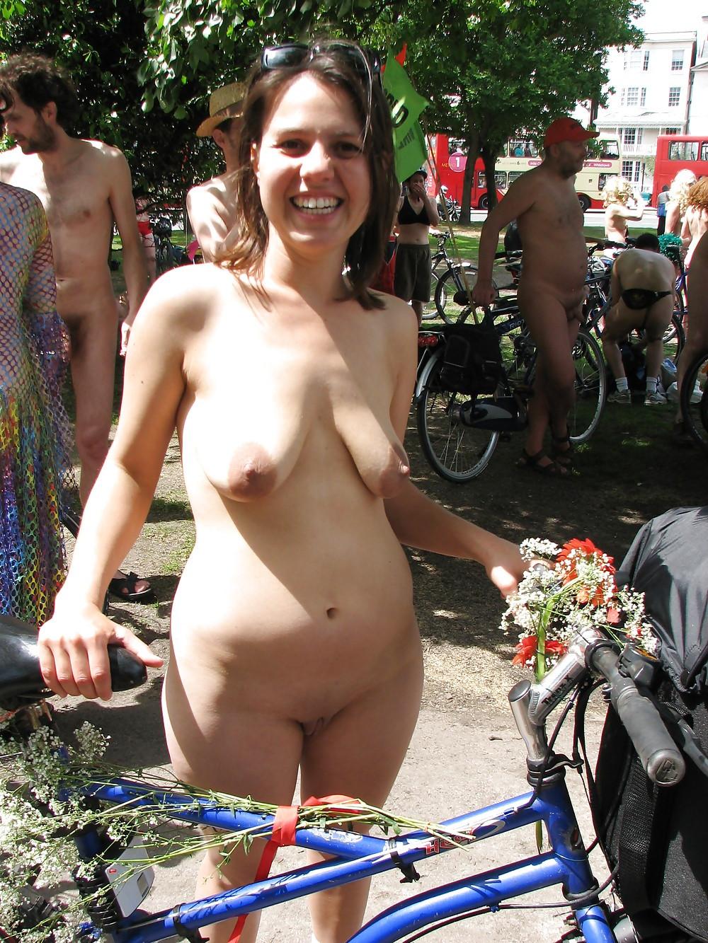 seats bike girls Nude on