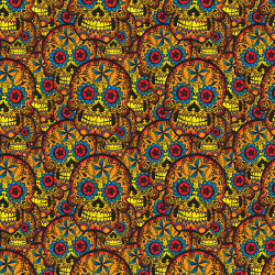 Snazzy Space Sugar Skull Puzzle Piece