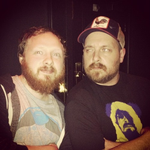 baker2d:  Me and @danlesac :-) was good. #beard #beards #danlesac  Suspicion.