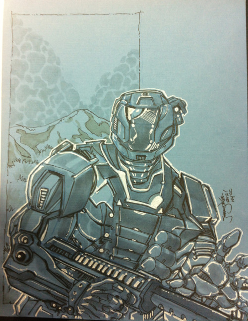 Halo Master Chief convention sketch by Jeremy Dale at NYCC 2012.