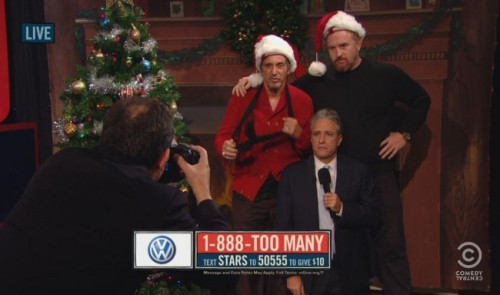 Louis CK's Awkward Christmas Card Photo With Al Pacino And Jon Stewart