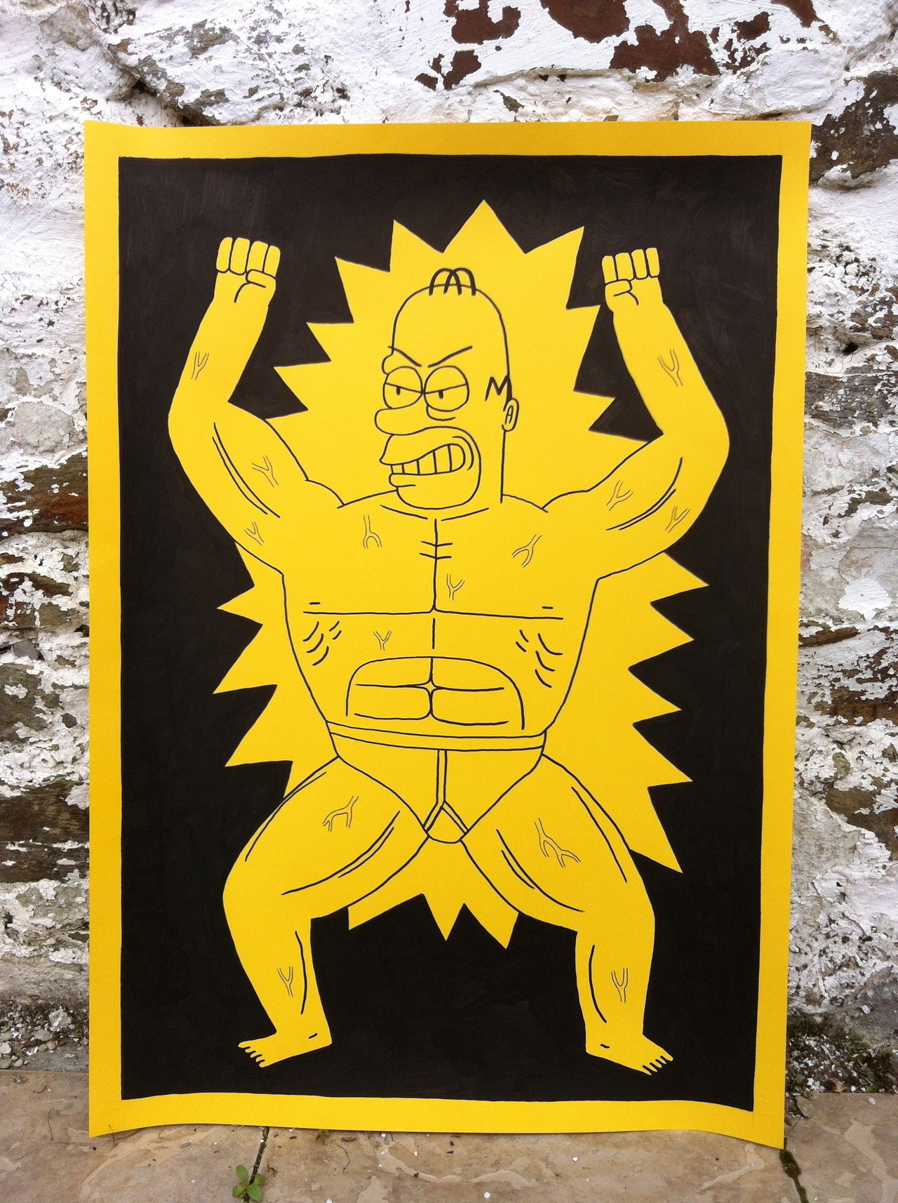 simpsonsdrawingclub:  Muscle Homer Available to buy