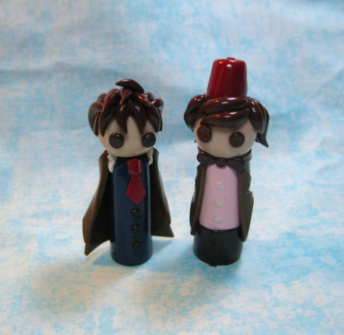okapirose:  Tennant!Doctor and Smith!Doctor wobbles. This probably goes against all timey wimey stuff.