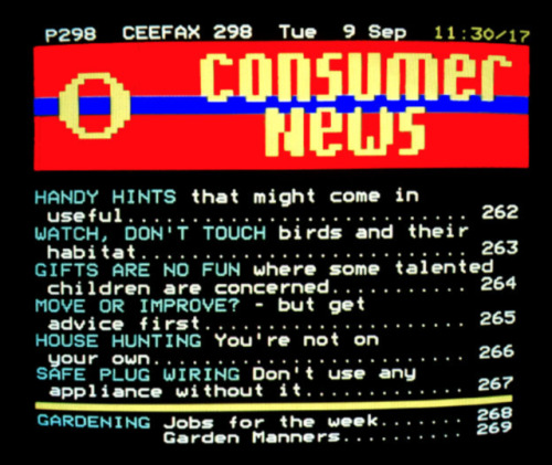 Ceefax, the world's first Teletext service, will deliver its last page to the UK on October 24th Before the rise of 24-hour networks and readily accessible internet access, bored television viewers in the UK seeking entertainment at 3AM would have to make do with Ceefax. The service was originally designed to offer subtitles on programs for the deaf and hard of hearing, but morphed over the decades into a fully fledged information service.