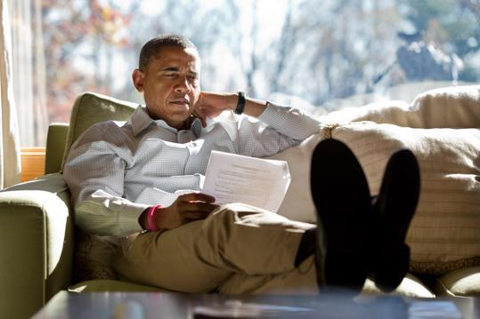 The President is relaxing and studying up for the final debate.  But expect him to go head-to-head with Mitt Romney on foreign policy.