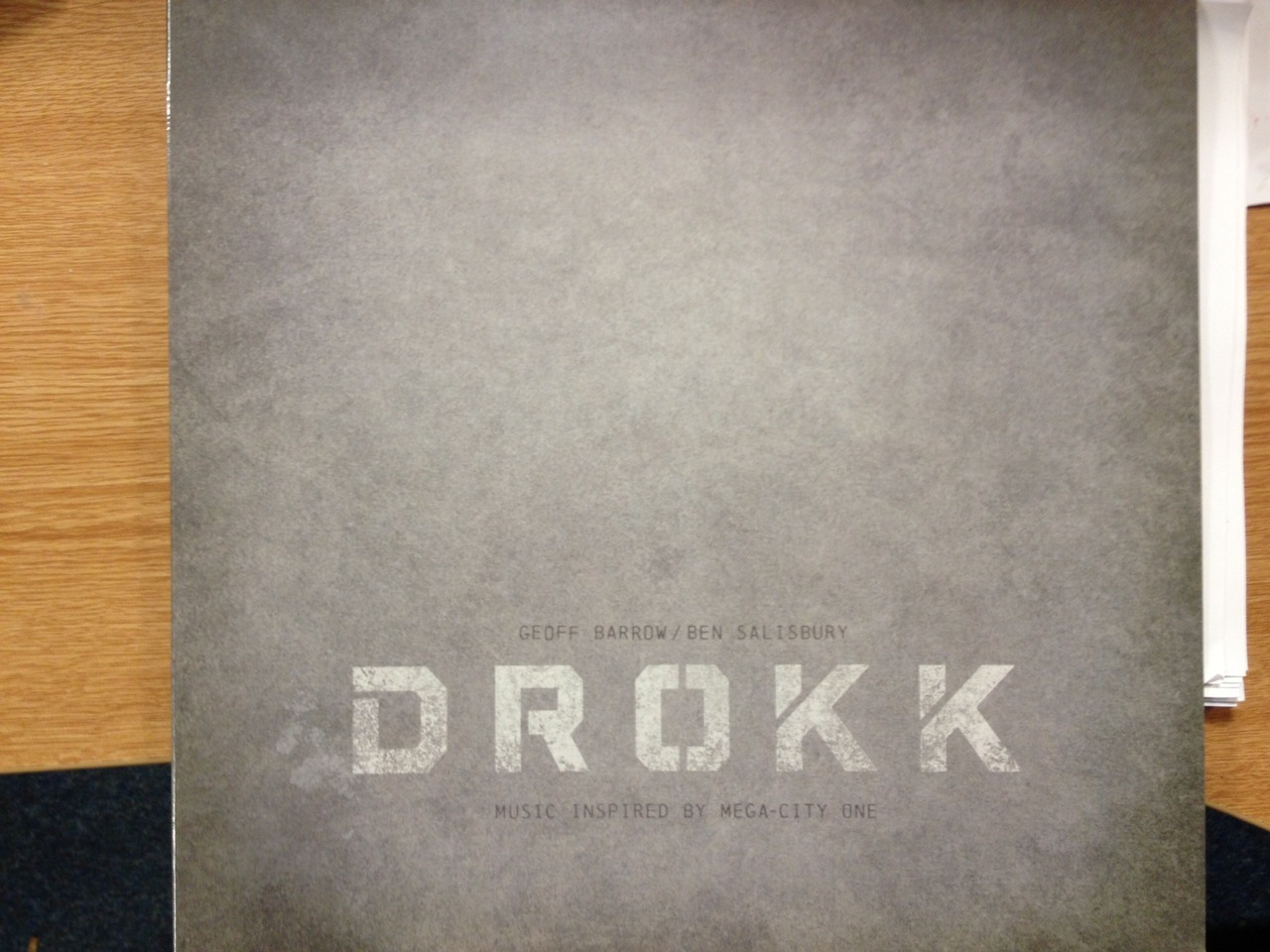 In The Post : Geoff Barrow and Ben Salisbury - Drokk : Music Inspired By Mega City One Been wanting to pick this up for ages and keep forgetting. Brilliant record.