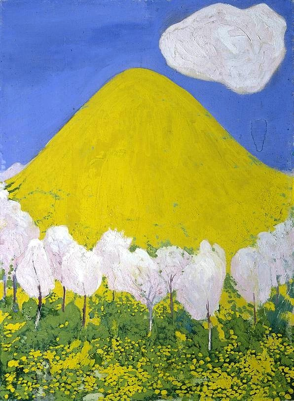 bofransson:  Cuno Amiet (1868-1961) - The Yellow Hill, 1903