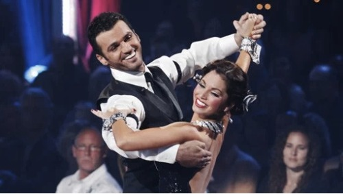 Yikes! Dancing With The Stars cast member Melissa Rycroft took a nasty spill on Sunday during dance practice and had to be rushed to the hospital with a neck injury. Melissa has since been released and tweeted she is fine, but it is still unsure if she will dance tonight. We wish her a speedy recovery!