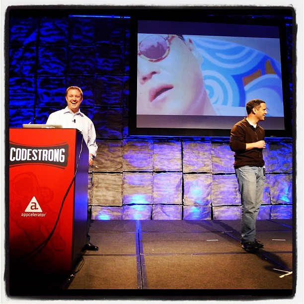From last night's keynote prep w/ @jhaynie. Ruh roh. #CODESTRONG (at InterContinental San Francisco)