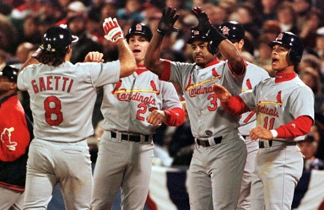 1996 NLCS the Forgotten Game 7. Cardinals cruising up 3-1 against Atlanta Braves, then only score one run in final three games to lose the series.  History about to repeat itself?