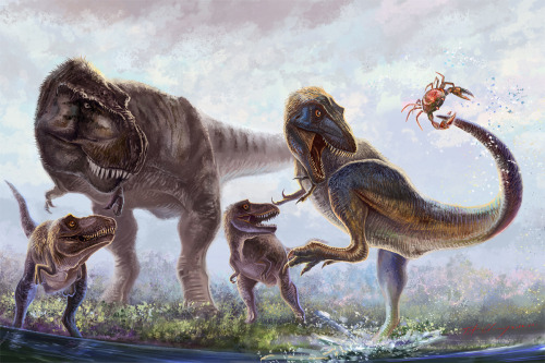 "paleoillustration:  ""Little Rex Adventures"" by Cheung Chung Tat"