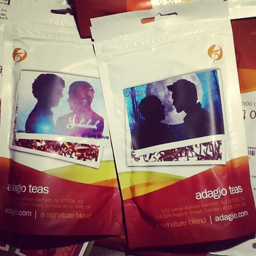 Yay, finally my own #tea blends are here :3 #Sterek #Johnlock @AdagioTeas #Sherlock #TeenWolf 🐾🎻☕🍵#AdagioTeas (at Sani's Place) Get yours here
