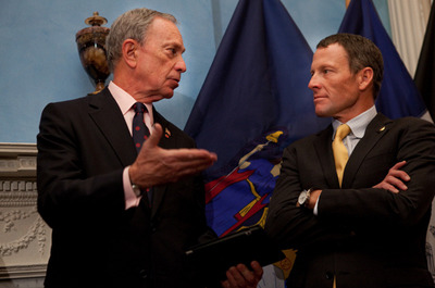 (via Lance Armstrong and Michael Bloomberg, through the years | Capital New York)