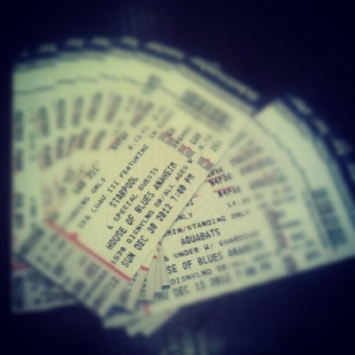 We went to the box office at HOB Anaheim this weekend and picked up 8 tickets for Ska Luau and 4 tickets for Aquabats. Thank god for 4 packs saving us all money on shows we were going to see anyways.