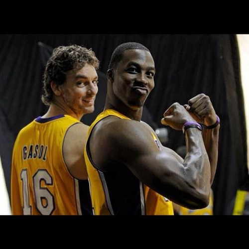 Twin Towers 2012! #lakers #gasol #howard #beastmode