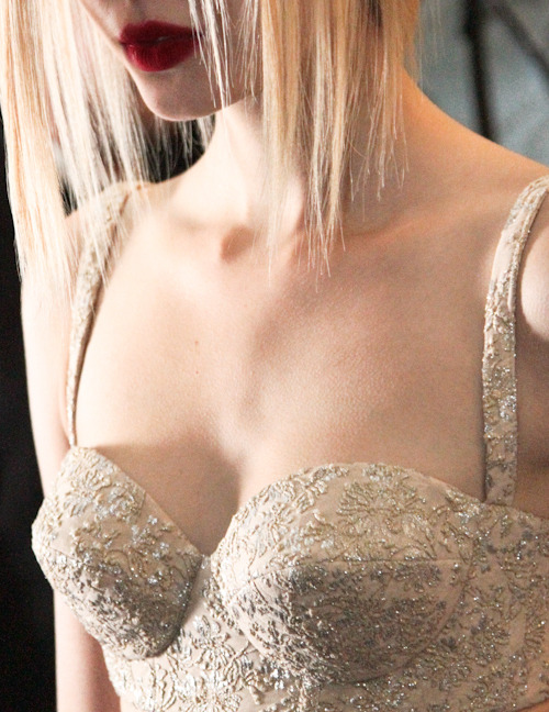 Always had a weak spot for corsets  bienenkiste:   Rochas S/S 2013 backstageBoobs by Josephine Skriver