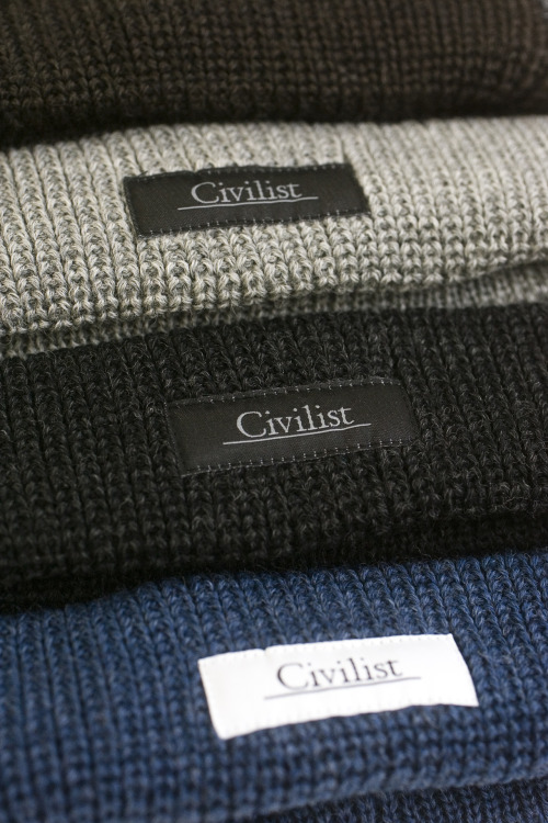 Civilist.  Mütze. Schurwolle. 100% Pure Wool. Made in Germany.