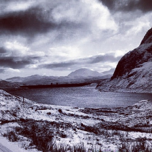 #scotland #canon #canon350d #snow #landscape #mountains #loch #hdr