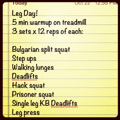 Killed legs, glutes and hammies today! #pumpiron #wod #liftweights