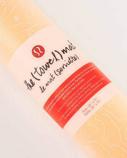 Hot Yogi's rejoice! Lululemon introduces the Towel Mat. One side towel. One side mat. Want. Other Lulu Posts  How To Chaturanga Sunday Yoga Detox 'Unravel The Tension' 20 Min. Yoga Sequence