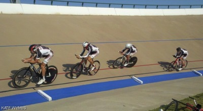 The velodrome in Frisco, TX is banked at 45 degrees, making it daunting at first, but incredibly fun to ride and race on.  In late September, MIT Cycling sent seven students to represent the team at Frisco, TX for the Track National Championship.  Thanks to tons of training, fantastic teamwork, and financial support from FXDD, MIT was able to take home the gold medal for the overall team award in Division II.