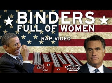 VIDEO: Binders Full of Women Rap He's got hos in every congressional district.