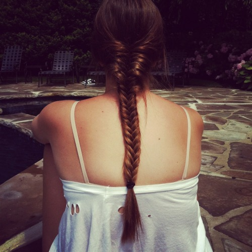 #fishtail #braid #hair #ombre #summer