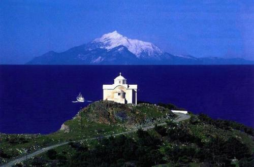 Mount Athos from Limnos island
