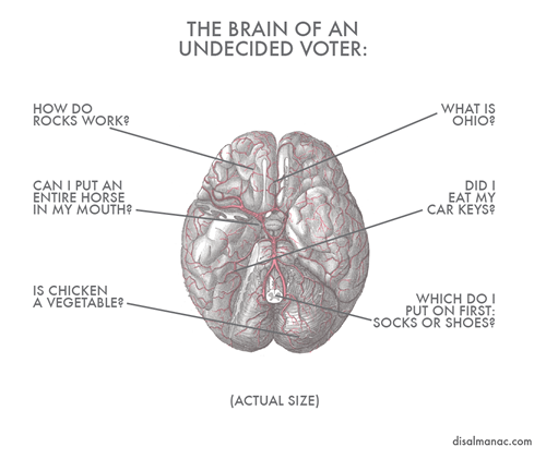 ameliamagritte:  Win. disalmanac:  The brain of an undecided voter.