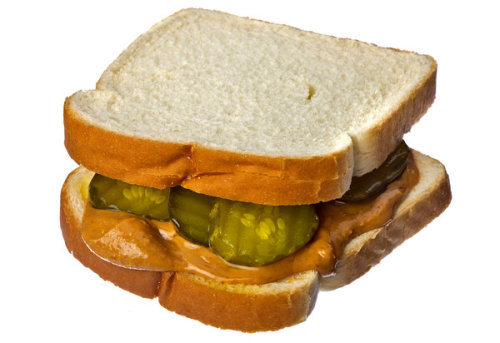 Peanut Butter and Pickle Sandwich? Any opinions? I'm intrigued… (Click the picture for the article, it's a fun read.)