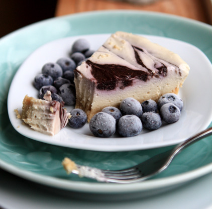 "findvegan:  Blueberry ""Cheesecake"""