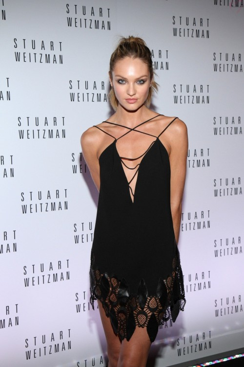 Candice in a black dress. You will also like: Candice, all the time.