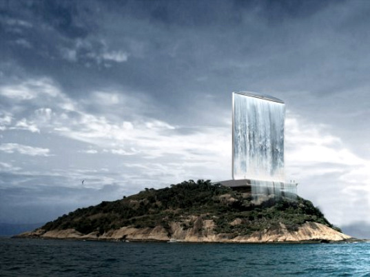 This renewable energy generating tower located on the coast of Rio is one of the first buildings we've seen designed for the 2016 Rio Olympics, and boy, is it crazy! (In case you didn't notice, it's also a waterfall.) The Solar City Tower is designed by Zurich-based RAFAA Architecture & Design, and features a large solar system to generate power during the day and a pumped water storage system to generate power at night. RAFAA's goal is that a symbolic tower such as this can serve as a starting point for a global green movement and help make the 2016 Olympic Games more sustainable.
