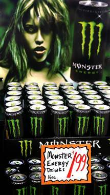 Monster Energy Drink may be linked to 5 deaths (Photo: Tim Boyle / Getty Images file) The U.S. Food and Drug Administration said on Monday that it has received reports of five deaths and a heart attack since 2009 that may be associated with Monster Energy Drink.  Read the complete story.