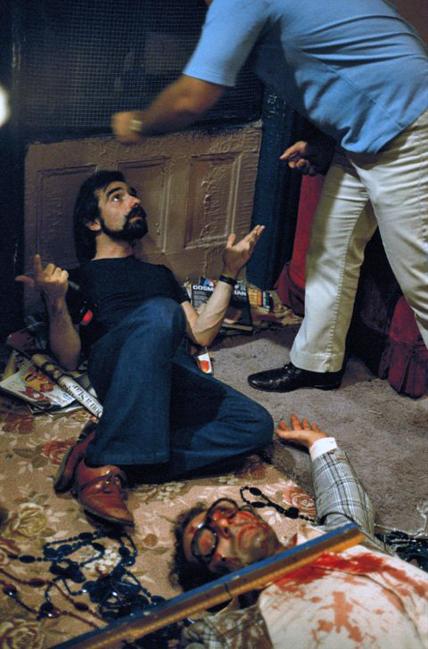 cinematographers:  Martin Scorsese on the set of Taxi Driver (1976).