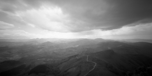 Clouds over Pays Basque (as usual in fact) Holga WPC / Rollei RPX100