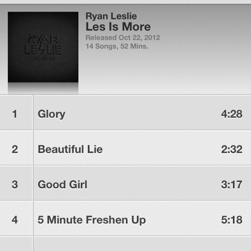 Finally! I've been waiting on this @ryanleslie album to drop for forever!!