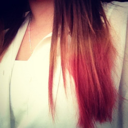 #pink #hair #dipdye #love