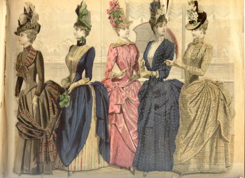 Color Fashion Plate, August 1887, Peterson's Magazine